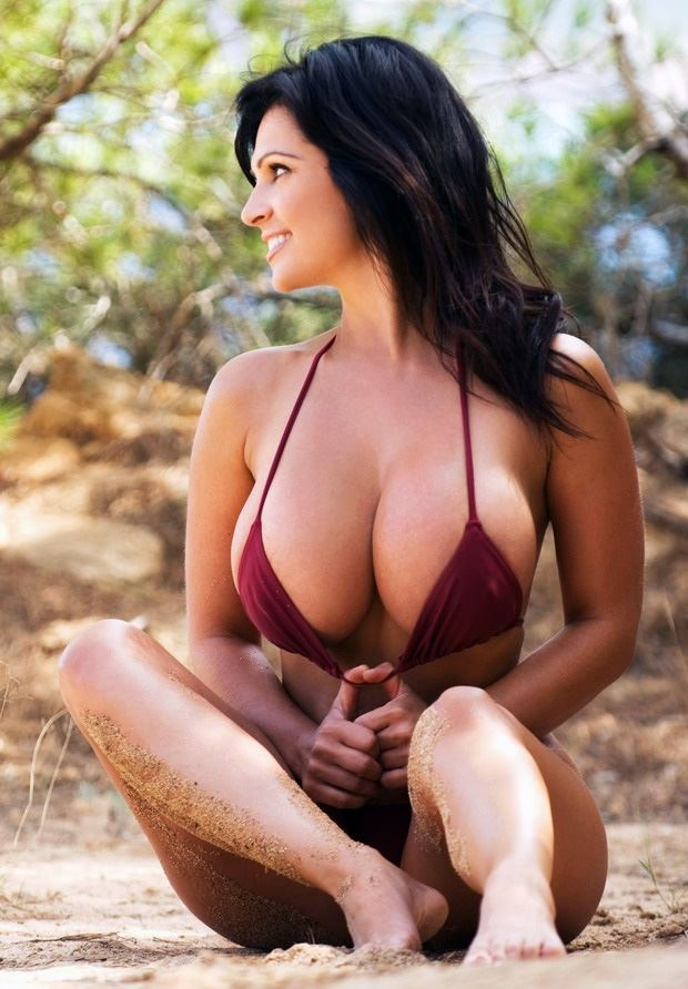 busty beach girl