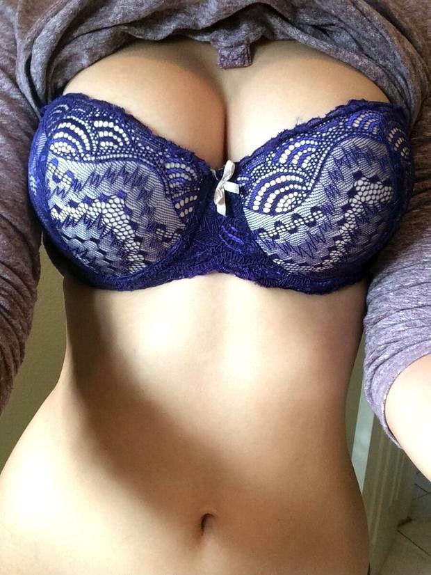 big tits blue bra