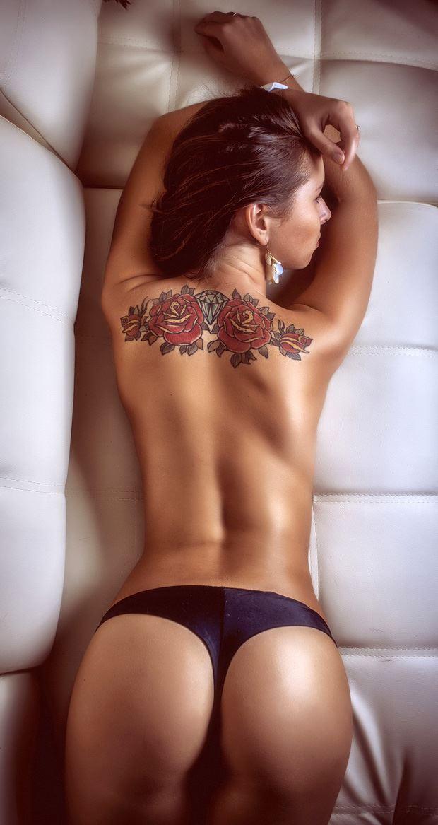tattoo on back naked girl