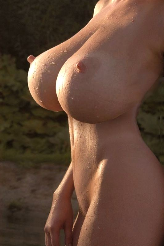 unnaturally big tits and big nipples