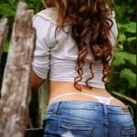 perfect ass in jeans and t-panties
