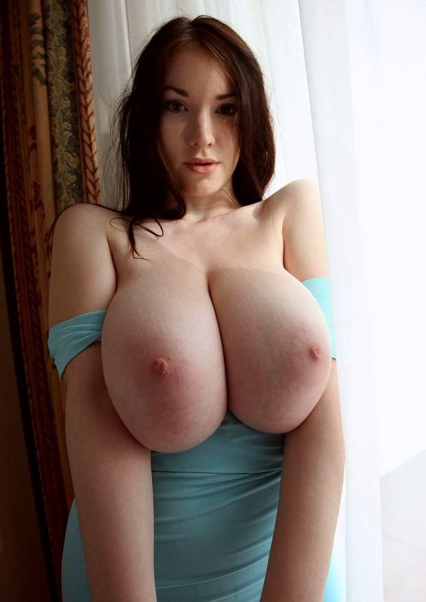 amateur brunette with massive tits