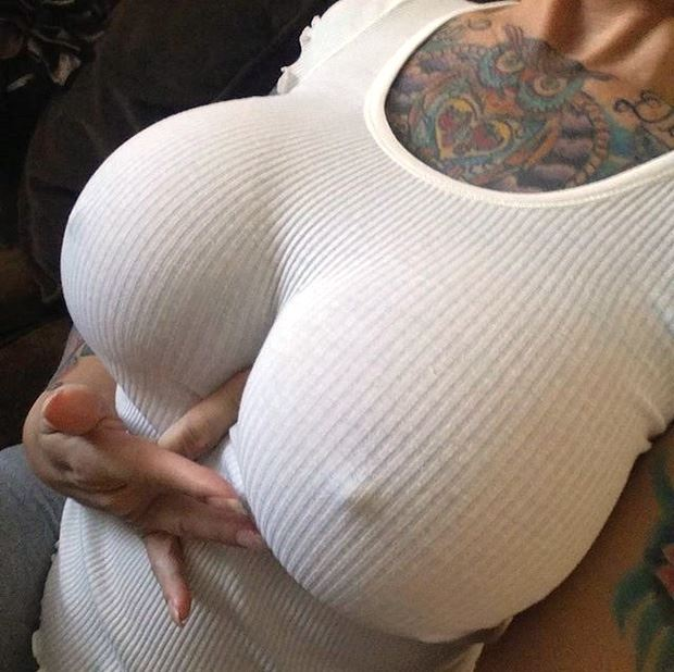 big tits under sweater