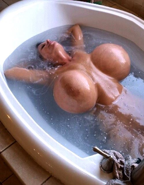 monster titted girl in water