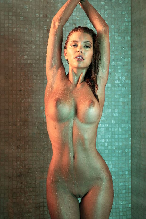 totally naked sexy girl in shower