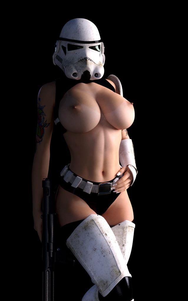 big tits stormtrooper cosplay