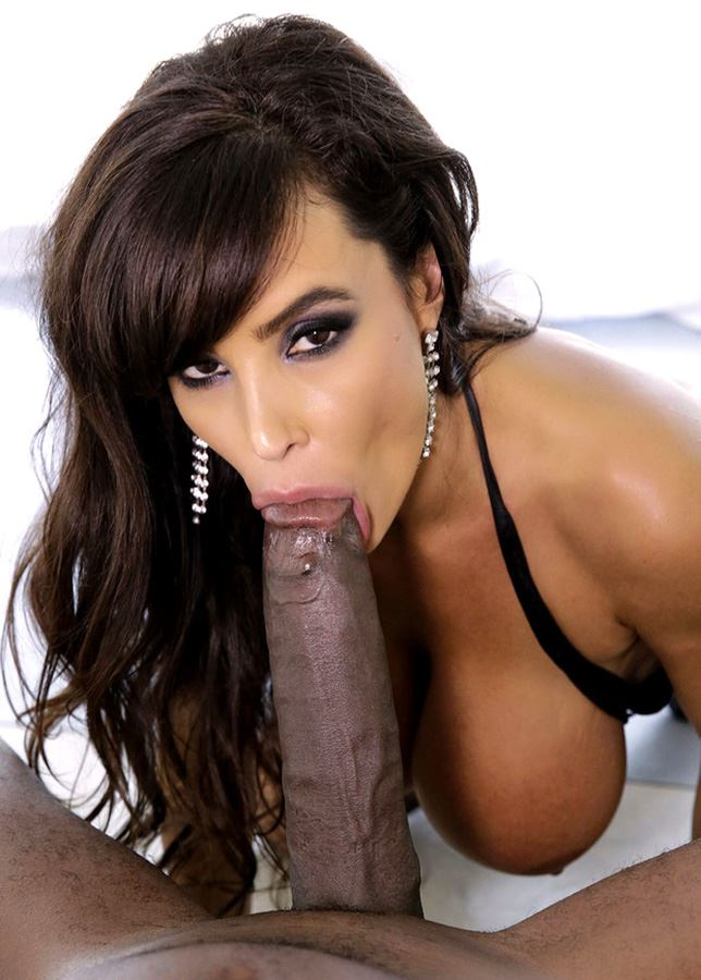 lisa ann sucking big black cock