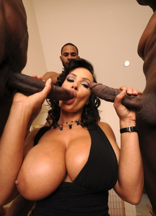 lisa ann sucks two black dicks