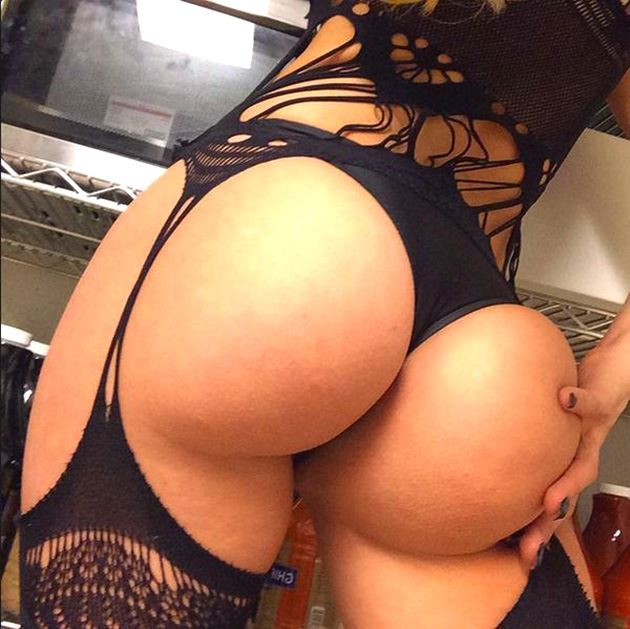 big round ass with black stockings
