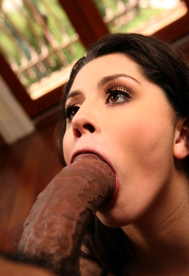 brunette can't open her mouth to big cock so much