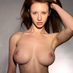 sexy ginger model girl with big tits