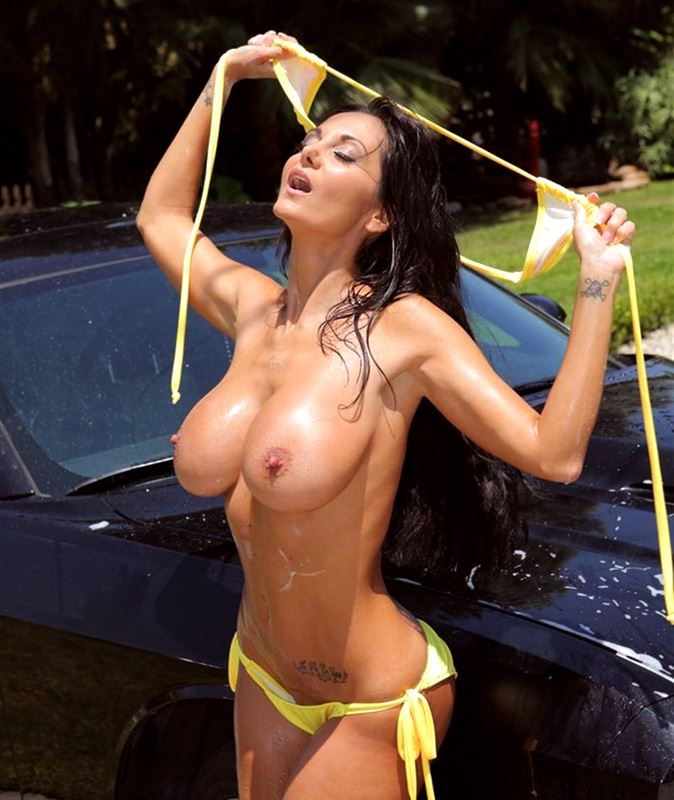 ava addams busty by car pic