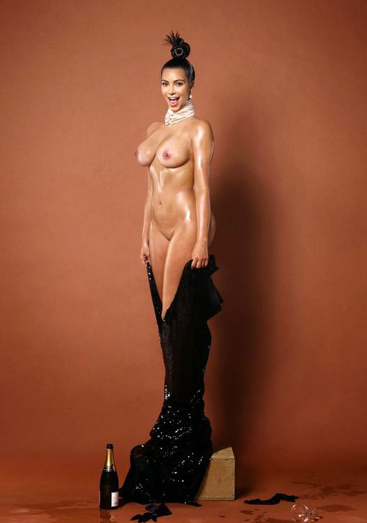 kim kardashian totally naked
