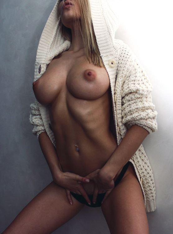 sexy girl with nice chest and tits