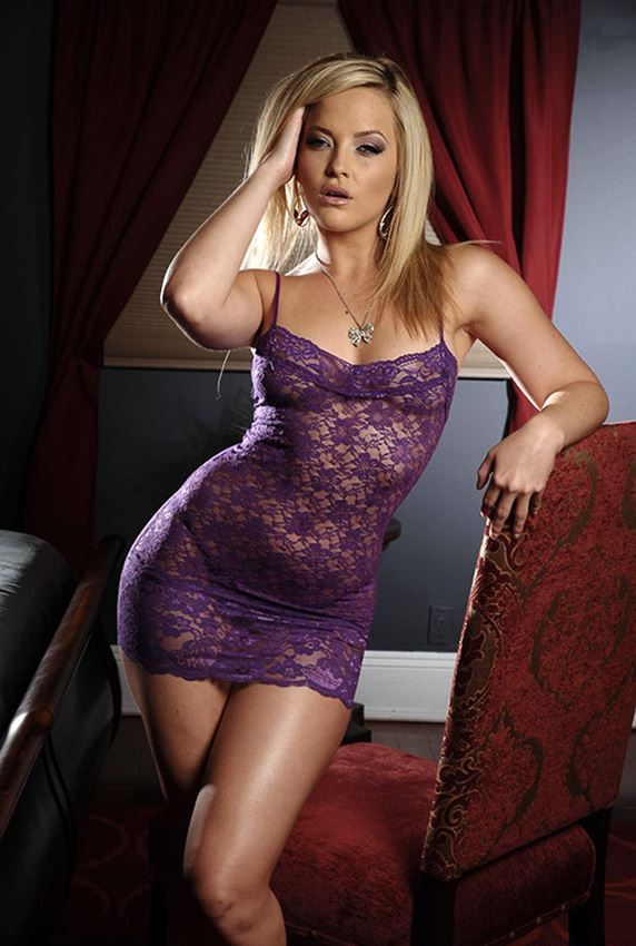 Alexis Texas in sexy night dress
