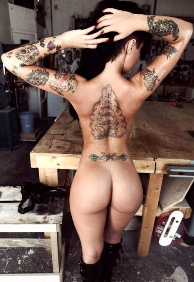 christy mack from behind ass and tattoos