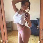 Anastasiya Kvitko mirror selfie