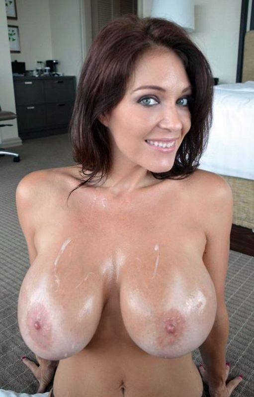 milf with jizz on tits