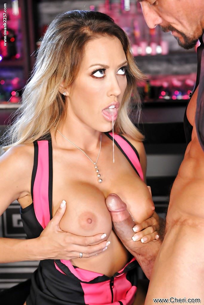 Capri Cavanni has dick between her tits