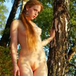 natural nude redhead girl with hairy pussy