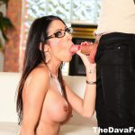 dava foxx in glasses does blowjob