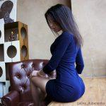 Galyusha Dubenenko big apple ass in night dress
