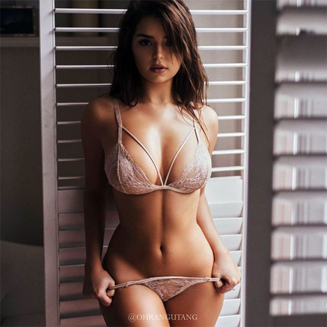 Demi Rose in transparent lingerie