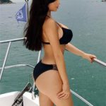 Demi Rose only in swimsuit