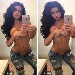 Abigail Ratchford mirror selfie topless naked boobs