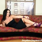 Jayden James laying on the couch
