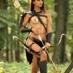 naked elven archer cosplay