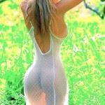 big ass hot blonde in nightdress