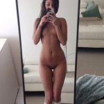 slim brunette teen took pic of her body