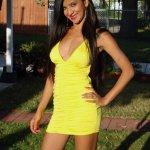 Bindu Pariyar yellow dress