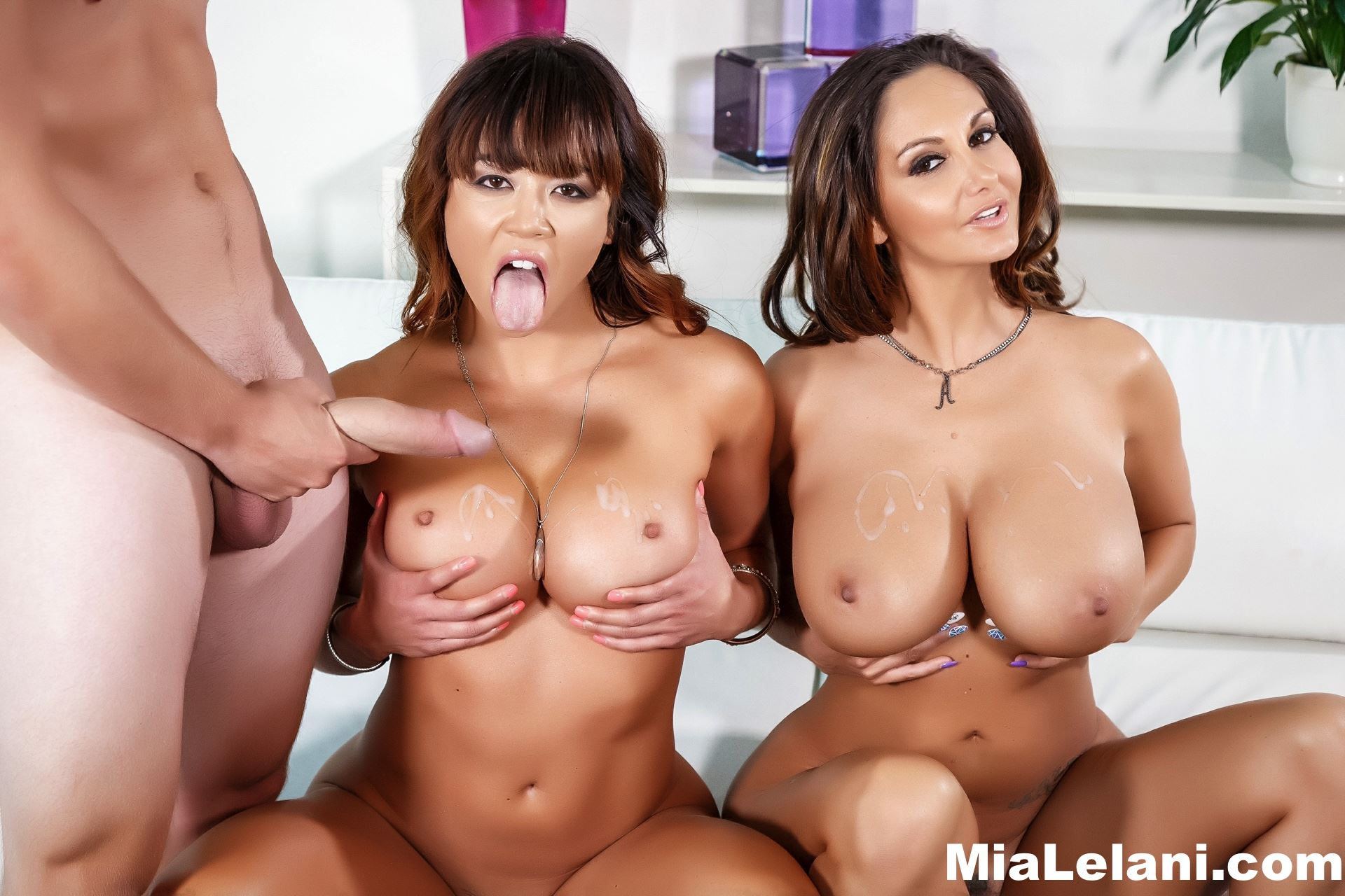 Gallery: Mia Lelani gets fucked in threesome with her friend